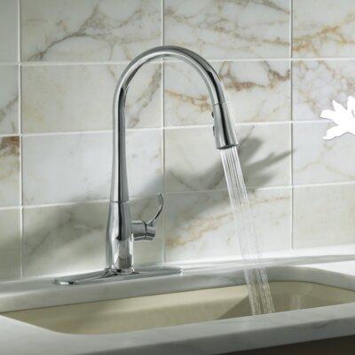 Kohler Simplice Kitchen Sink Faucet With 16 5 8 Pull Down Spout Reviews Wayfair