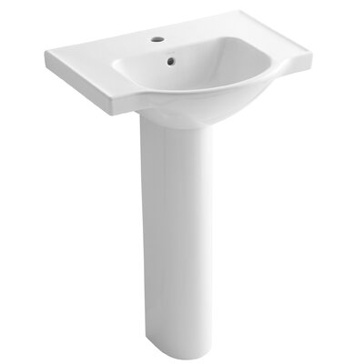 Kohler Veer 24 Pedestal Bathroom Sink With Overflow Reviews Wayfair