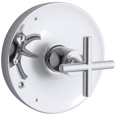 kohler purist valve trim with cross handle for ritetemp valve u0026 reviews wayfair - Kohler Purist