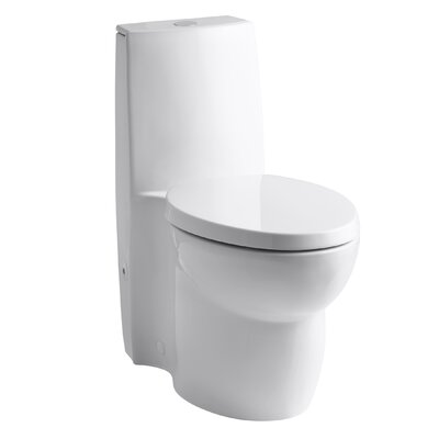 kohler saile skirted onepiece elongated dualflush toilet with top actuator and saile quietclose toilet seat with u0026 reviews