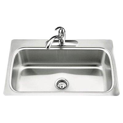 Kohler Verse 33 X 22 X 8 1 4 Top Mount Single Bowl Kitchen Sink With Single Faucet Hole Reviews Wayfair
