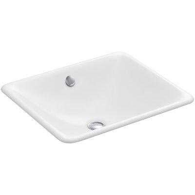 Kohler Iron Plains Rectangular Undermount Bathroom Sink With Overflow U0026  Reviews | Wayfair