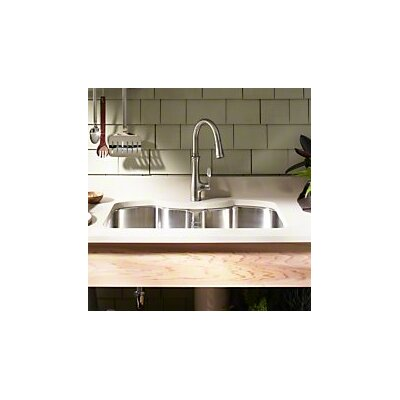 "Kohler Stainless Steel Kitchen Sinks kohler octave 32"" x 20-1/4"" x 9-5/16"" under-mount double-equal"