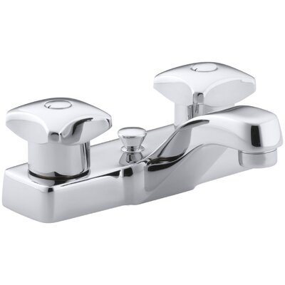 Kohler Triton Centerset Commercial Bathroom Sink Faucet with Pop Up Drain and Standard Handles  amp  Reviews   Wayfair. Kohler Triton Centerset Commercial Bathroom Sink Faucet with Pop