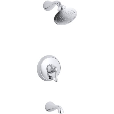 kohler revival ritetemp bath and shower faucet trim with pushbutton diverter and traditional lever handle valve not included wayfair