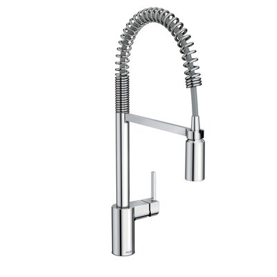 Moen Align One Handle Pre-Rinse Spring Pulldown Kitchen Faucet ...