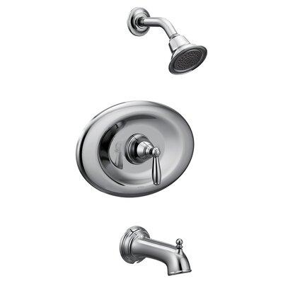 moen brantford conversion tub and shower faucet with metal lever handle wayfair - Moen Brantford