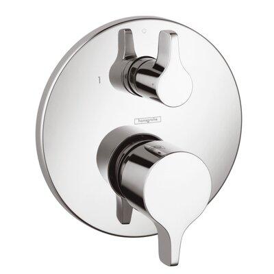 hansgrohe metris e pressure balance diverter faucet trim with lever handle u0026 reviews wayfair