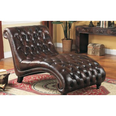 Lazzaro Leather Chaise Lounge U0026 Reviews | Wayfair