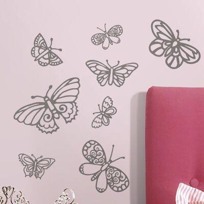 Room Mates Glitter Butterflies Wall Decal  Reviews Wayfair - Wall decals butterflies