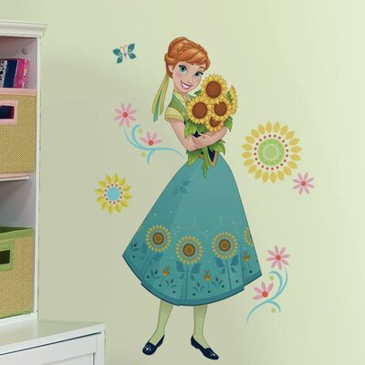 Room Mates Disney Frozen Fever Anna Peel And Stick Giant Wall Decal U0026  Reviews | Wayfair Part 46