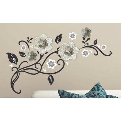 Room Mates Floral Scroll Peel And Stick Wall Decal U0026 Reviews | Wayfair