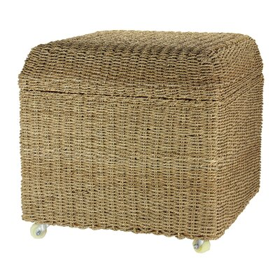 Household Essentials Rolling Seagrass Wicker Storage Seat Ottoman & Reviews  | Wayfair - Household Essentials Rolling Seagrass Wicker Storage Seat Ottoman