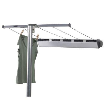 Household Essentials 5 Line Retractable Clothesline With Single Post U0026  Reviews | Wayfair