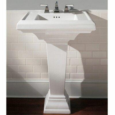 American Standard Town Square 24 Pedestal Bathroom Sink With Overflow Reviews Wayfair