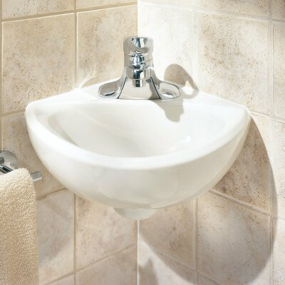 american standard minette ceramic specialty wallmount bathroom sink with overflow u0026 reviews wayfair
