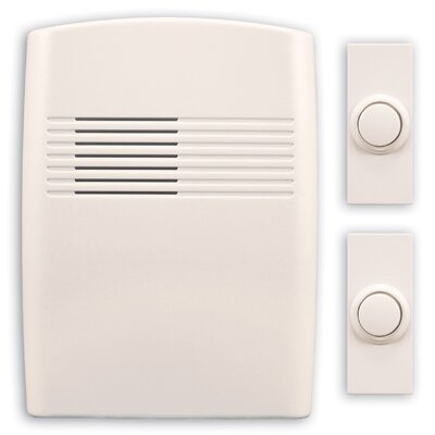 heathzenith wireless battery operated door chime kit with two push buttons u0026 reviews wayfair - Doorbell Chime