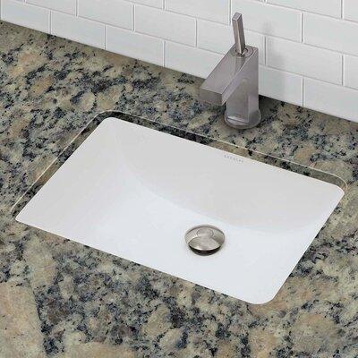 decolav callensia classic rectangular undermount bathroom sink with overflow reviews wayfair