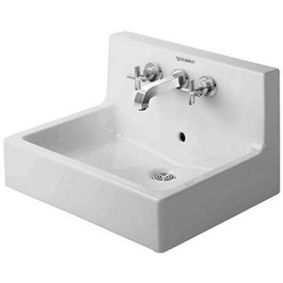 "Bathroom Sinks That Mount On The Wall duravit vero 24"" wall mount sink with overflow & reviews 