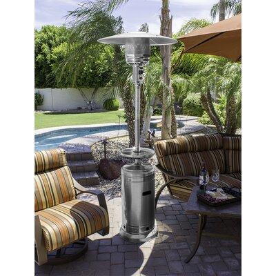 AZ Patio Heaters Tall Stainless Steel 41,000 BTU Propane Patio Heater U0026  Reviews   Wayfair  Az Patio Heaters