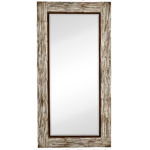 Large Framed Mirror Glasses : Majestic Mirror Large Rectangular White Washed Wood Framed ...