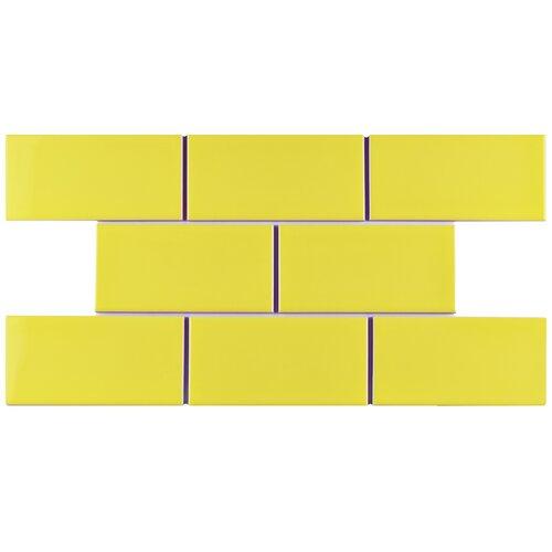 elitetile prospect 3 x 6 ceramic subway tile in canary