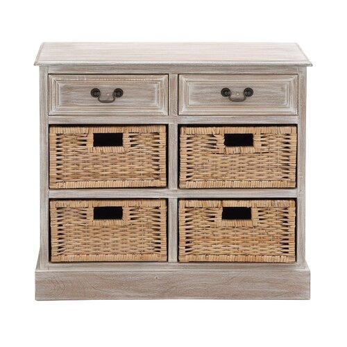 Woodland Imports The Rural Wood 4 Basket Chest Amp Reviews
