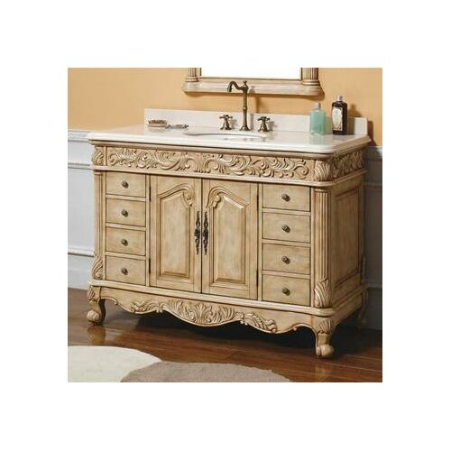 "James Martin Furniture Parchment 48"" Single Light Wood Bathroom Vanity  Set"