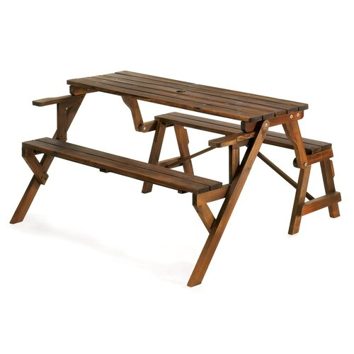 Zingz Amp Thingz Transforming Wood Garden Bench And Picnic