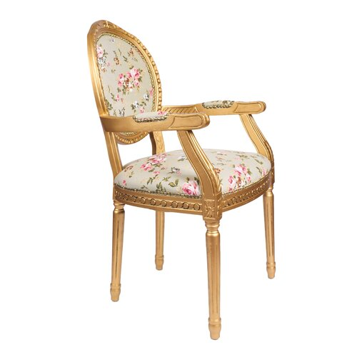 derry s louis floral upholstered dining chair reviews