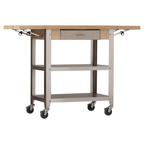 John Boos Cucina Americana Kitchen Cart With Wood Top