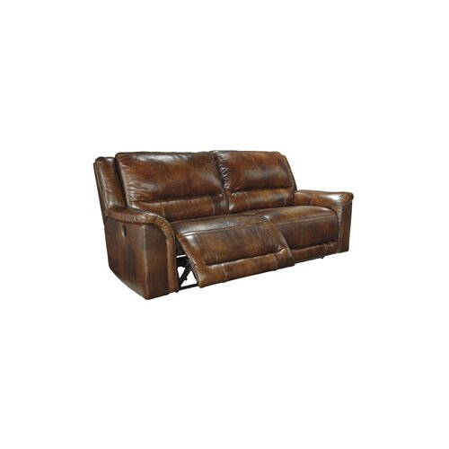 Signature Design By Ashley Jayron Leather Sofa & Reviews | Wayfair