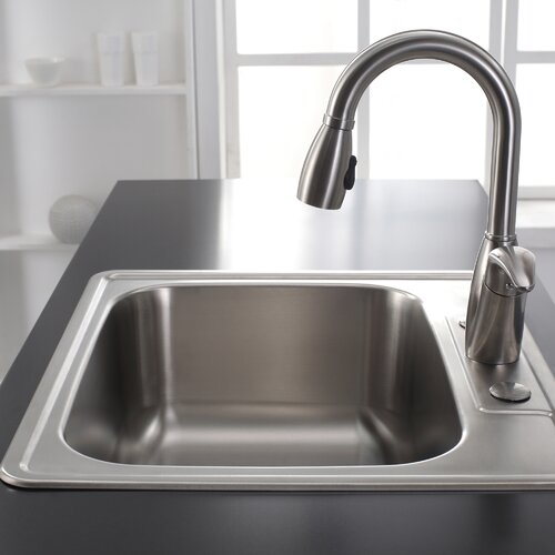 Kraus Stainless Steel 25 quot  x 22 4 quot  Drop In. Kraus Stainless Steel 25  x 22 4  Drop In Kitchen Sink   Reviews