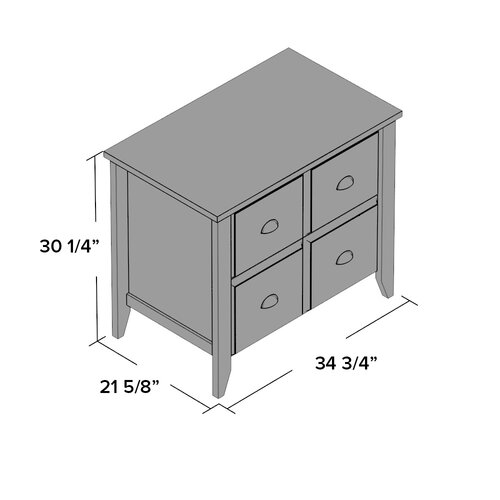 Bestar 1 Drawer Lateral File Cabinet Height 28 45 64 Width 30 7