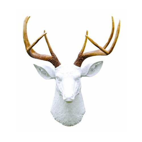 Near and Deer Deer Head Antlers Faux Taxidermy Wall Du0026eacute;cor