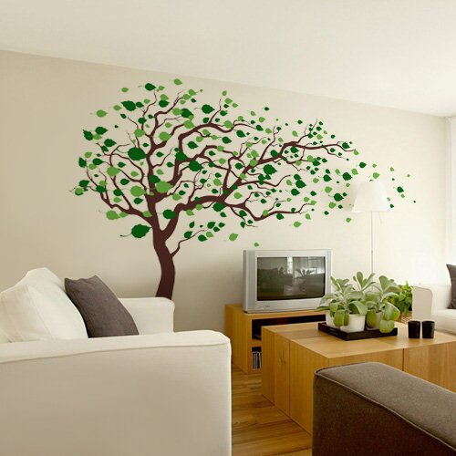 Pop Decors Tree Blowing in The Wind Wall Decal