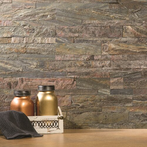 Aspect 6 Quot X 24 Quot Natural Stone Peel Amp Stick Mosaic Tile In