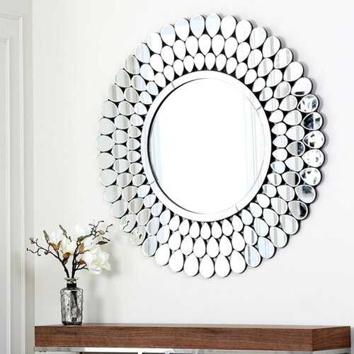 Round Silver Wall Mirror Amp Reviews Allmodern