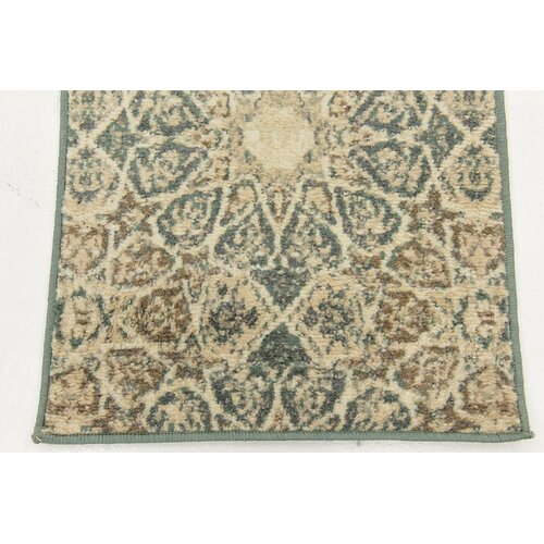 Lark manor pauley sage green cream brown area rug for Green and cream rugs