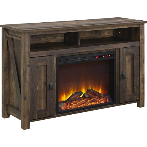 August Grove® Gilby TV Stand with Electric Fireplace - August Grove Gilby TV Stand With Electric Fireplace & Reviews