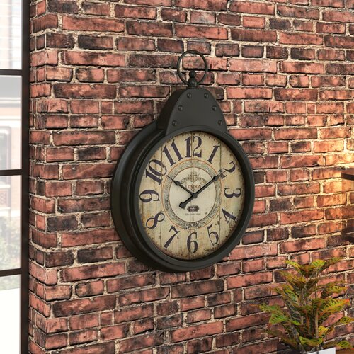 Trent austin design wilksboro oversized fascinating styled berlin metal wall clock amp reviews