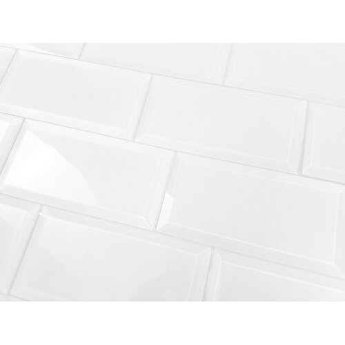 Frosted Elegance 3 Quot X 6 Quot Glass Subway Tile In Glossy White