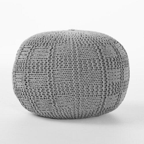 bungalow rose loma fabric pouf ottoman reviews. Black Bedroom Furniture Sets. Home Design Ideas