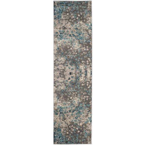 Bungalow Rose Crosier Gray Light Blue Area Rug Amp Reviews