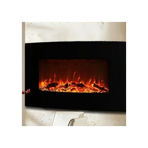 """Gibson Living Neptune 35"""" Logs Wall Mount Electric Fireplace - Gibson Living Neptune 35"""