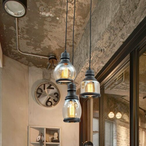 Unitary Glass Jar 3 Light Pendant Light & Reviews