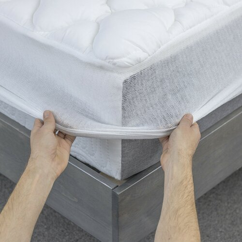 Olympic Queen Mattress Topper ... Edit Extra Plush Marriott Hotel Mattress Pad Topper with Fitted Skirt