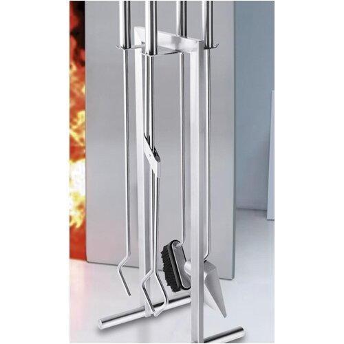Calore 5 Piece Stainless Steel Fireplace Tool Set