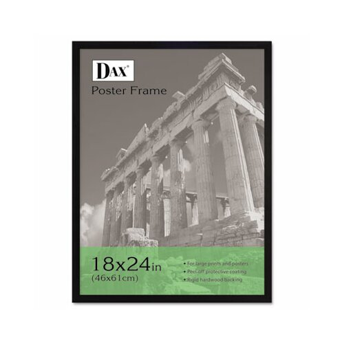 dax flat face wood poster frame with clear plastic window 18 x 24
