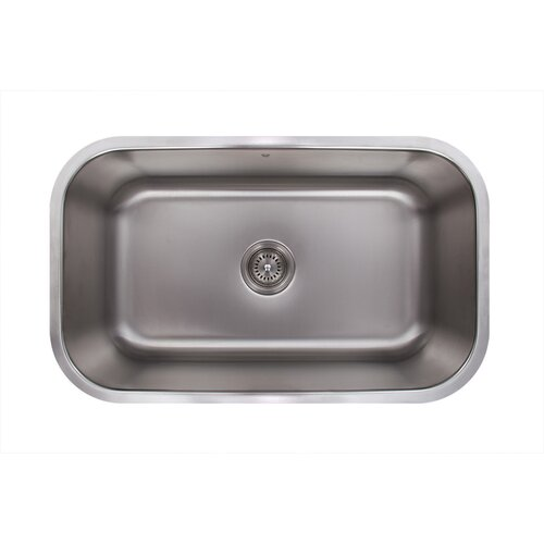 Vigo 30 Inch Undermount Single Bowl 18 Gauge Stainless Steel